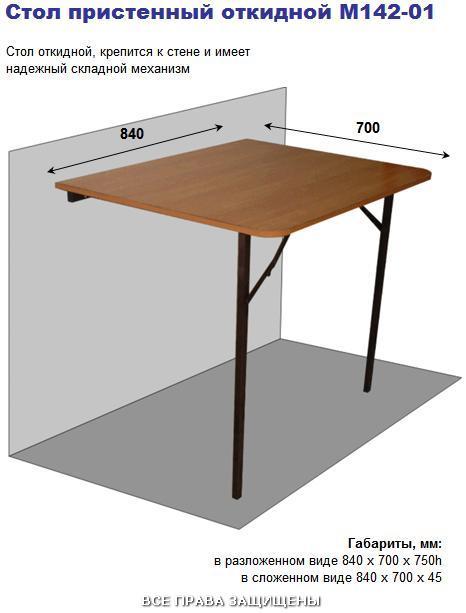 Пристенный столик складной